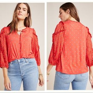 NWT Anthropologie Jacques peasant blouse